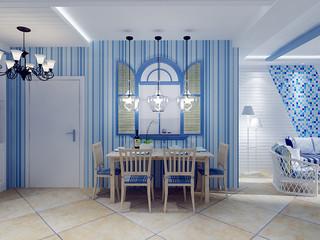 地中海风格餐厅装修效果图