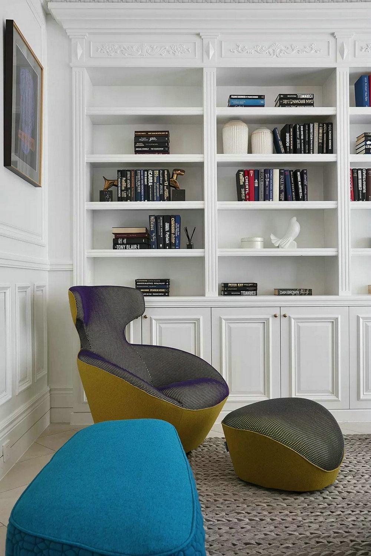 旧房改造完美蜕变书柜图片