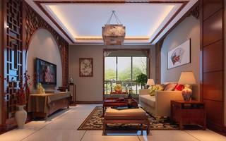 中式别墅客厅装修效果图