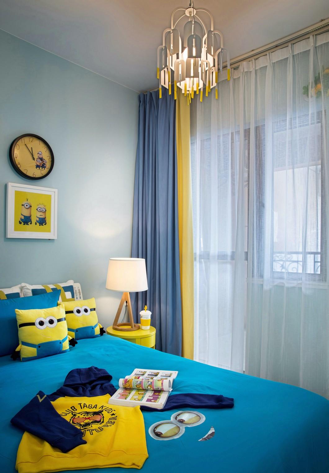 120㎡复式现代简约风儿童房装修效果图