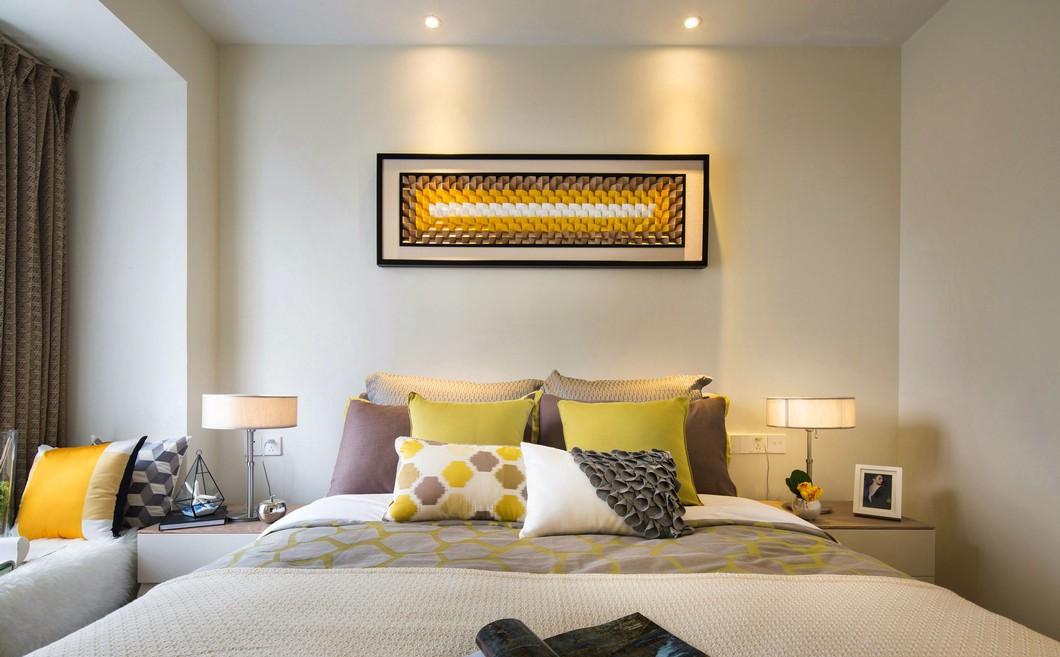 120㎡复式现代简约风卧室装修效果图