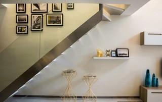 120㎡复式现代简约风楼梯装修效果图