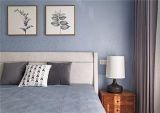 现代北欧风三居床头背景墙装修效果图
