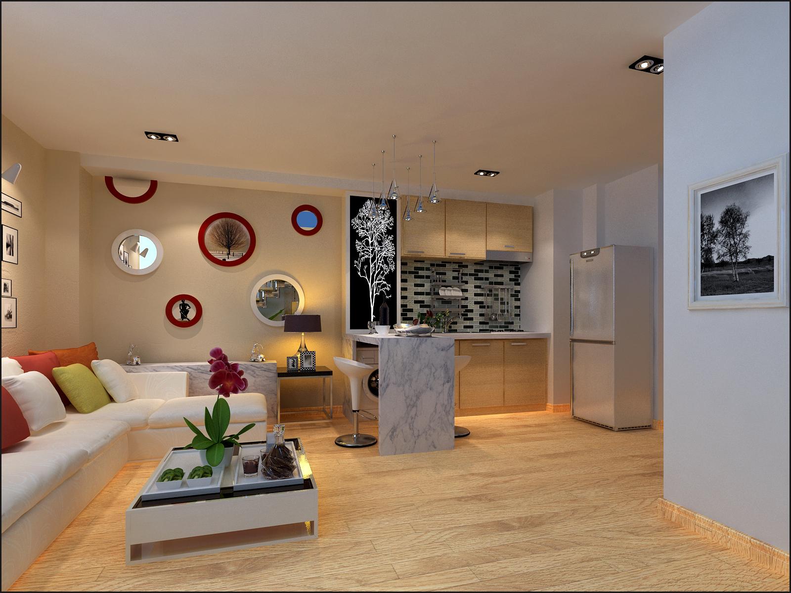复式小户型厨房装修效果图