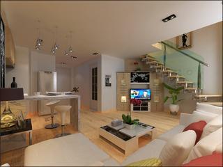 复式小户型客厅装修效果图