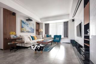 140平现代风格客厅装修效果图