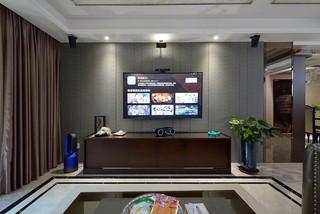 现代混搭风格电视背景墙装修效果图