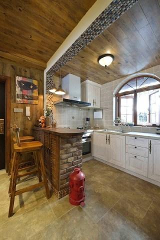 二居室美式乡村风格厨房装修效果图