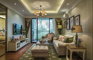 三居室田园风格客厅每日首存送20