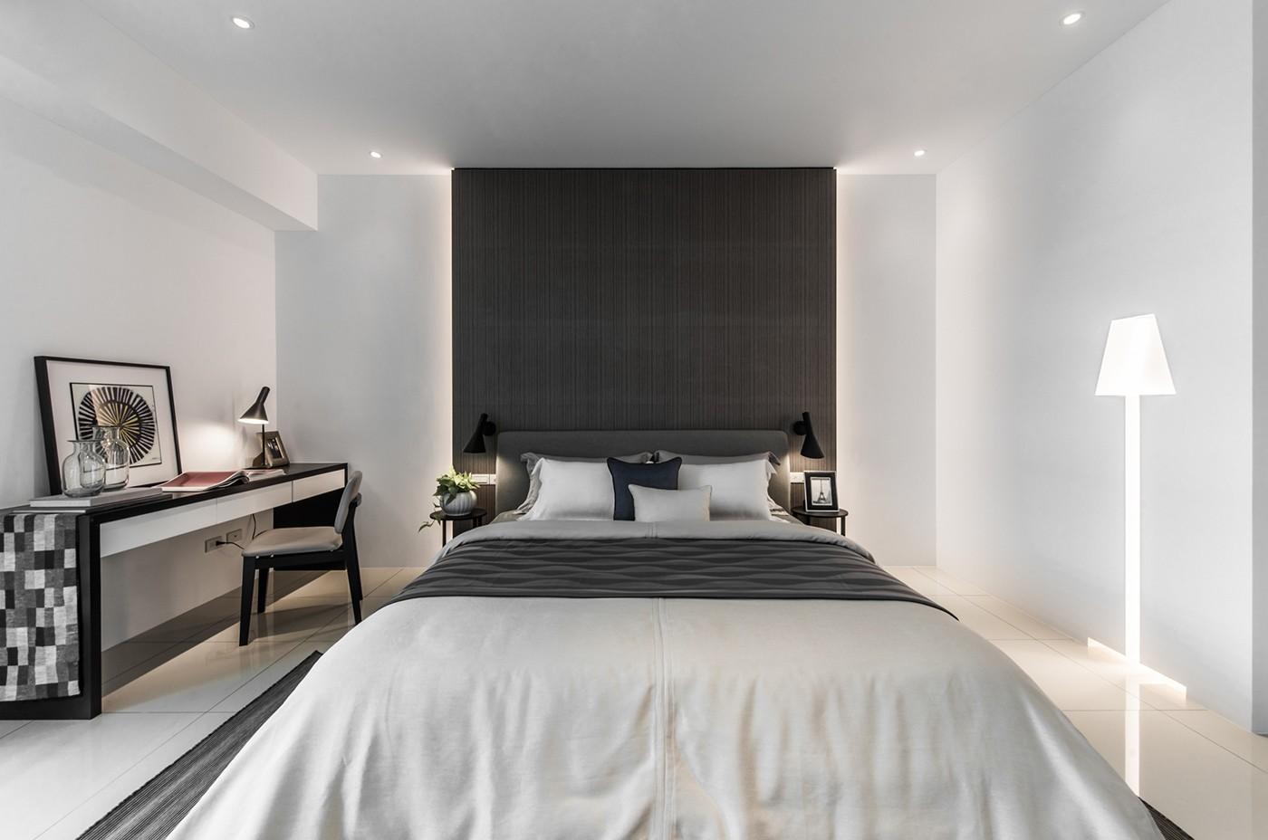大户型简约现代风格卧室装修效果图