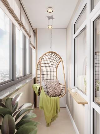 小户型公寓阳台装修效果图