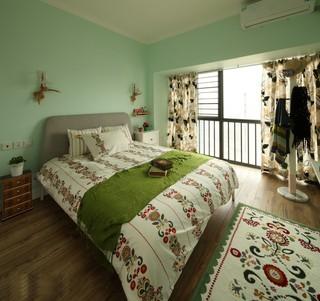 田园混搭风格三居卧室装修效果图