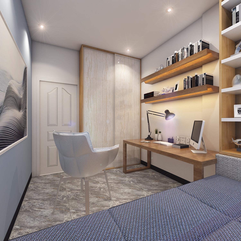 简约风格三居书房装修效果图