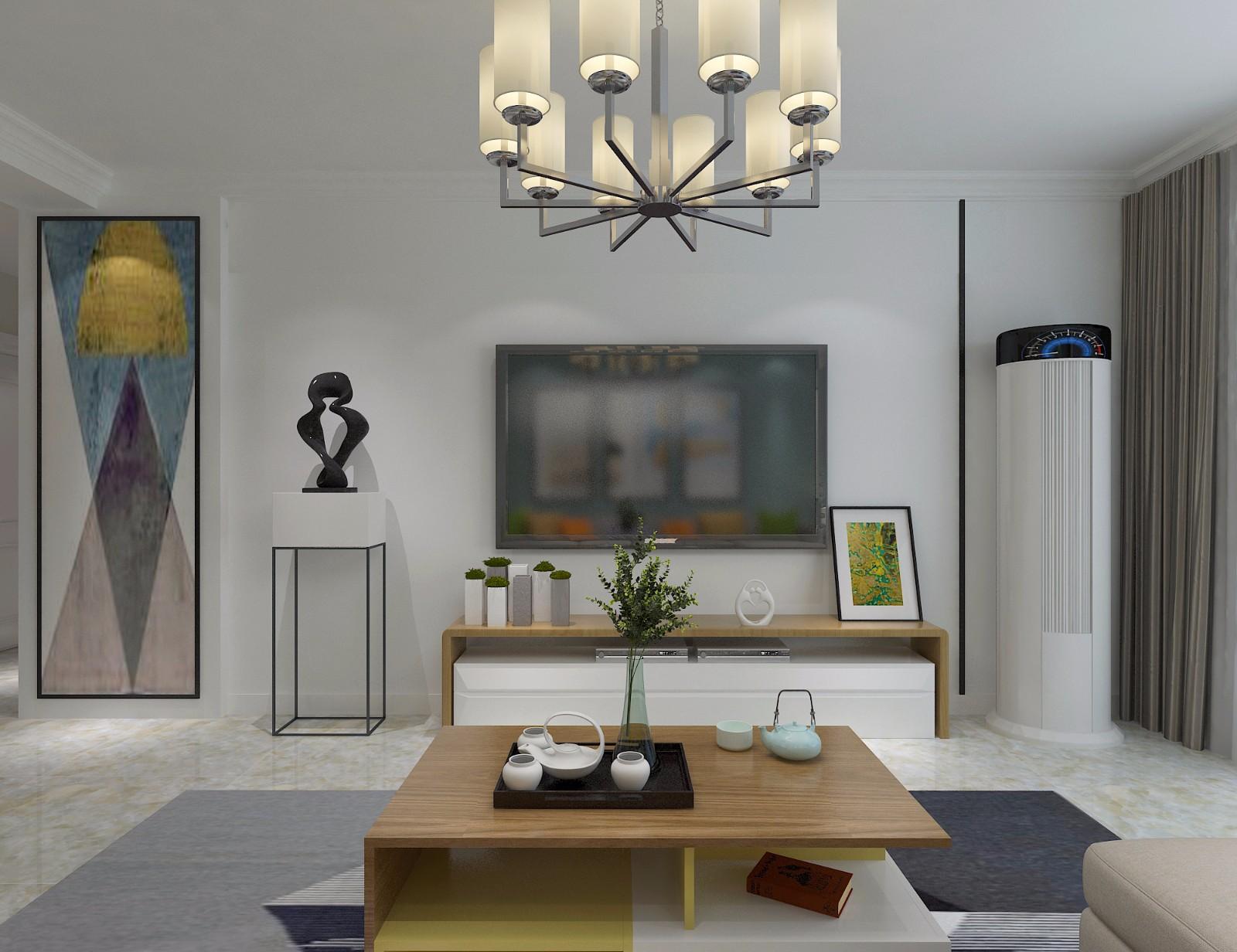 简约现代风格电视背景墙装修效果图