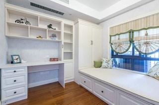 90平米美式风格榻榻米卧室装修效果图