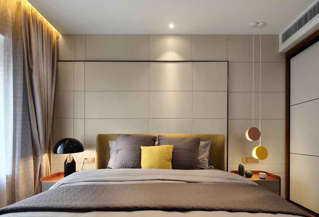 100平现代风格床头背景墙装修效果图