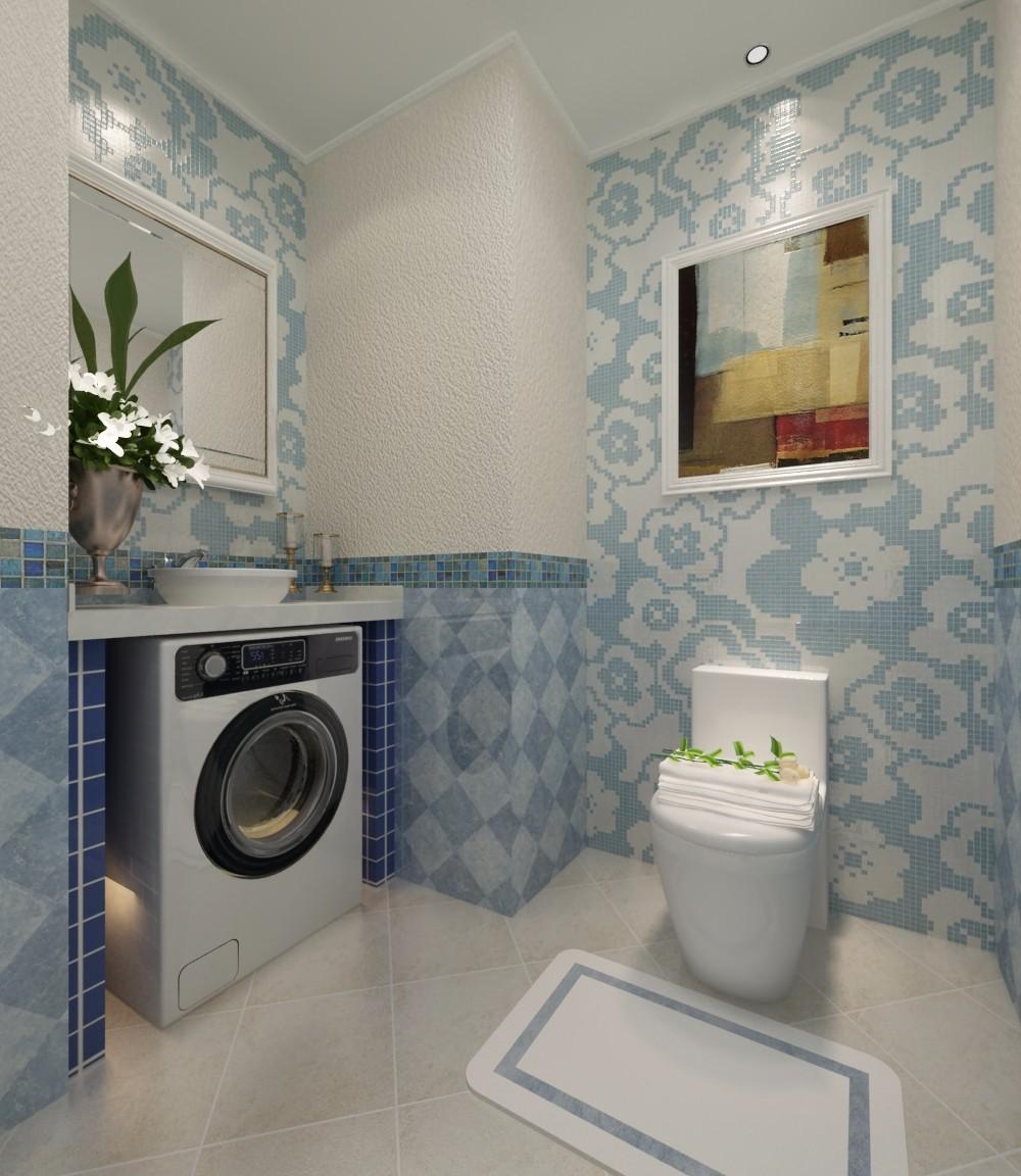 复式现代简约卫生间装修效果图