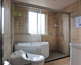 简约复式别墅卫生间装修效果图