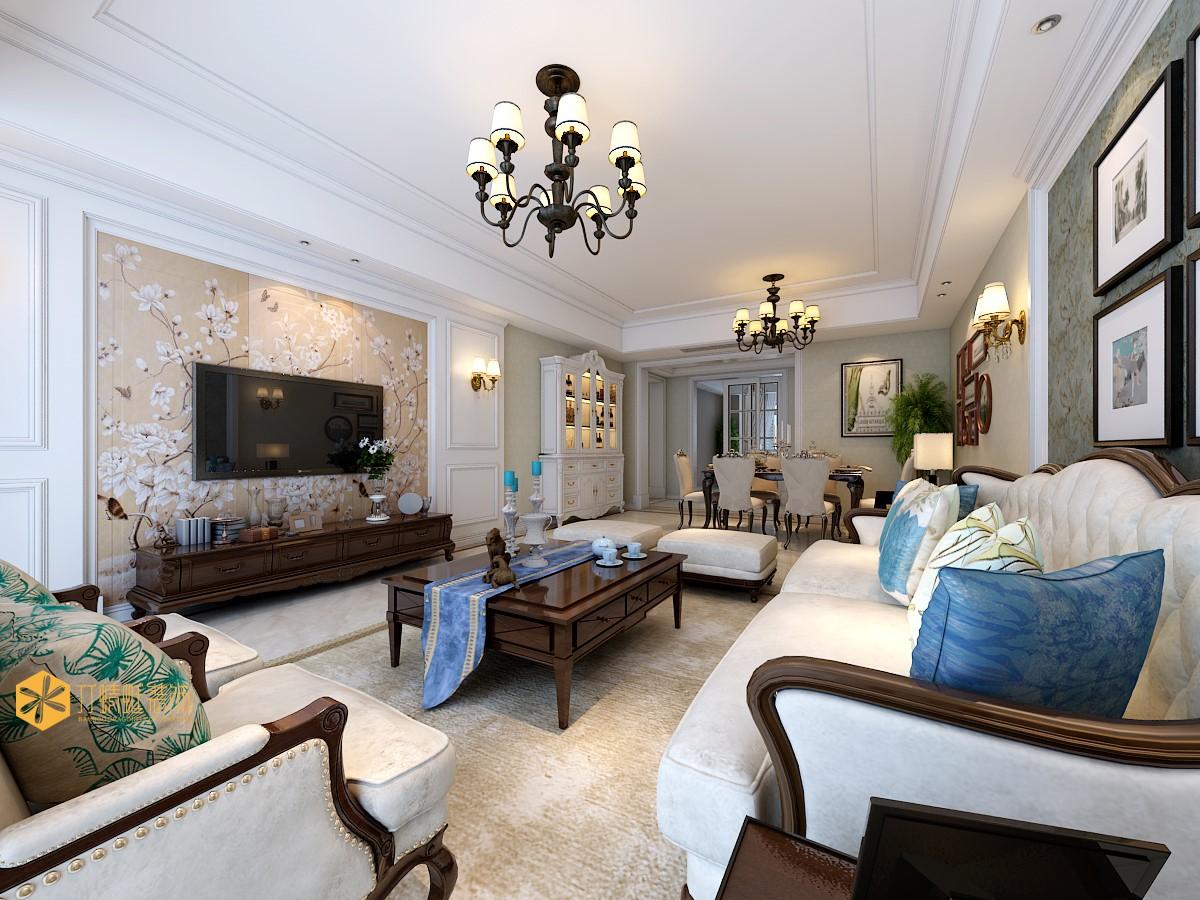 大户型欧美风格客厅装修效果图