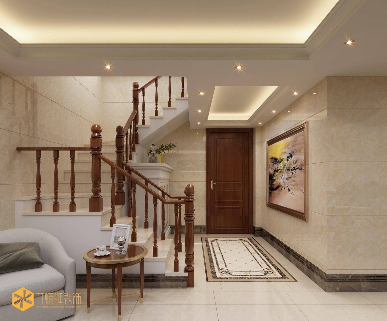 欧式风格别墅楼梯装修效果图