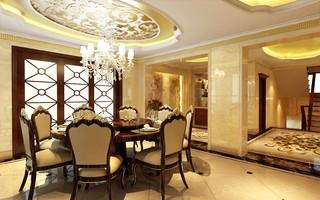 欧式别墅餐厅装修效果图