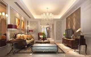 欧式新古典风格客厅装修效果图
