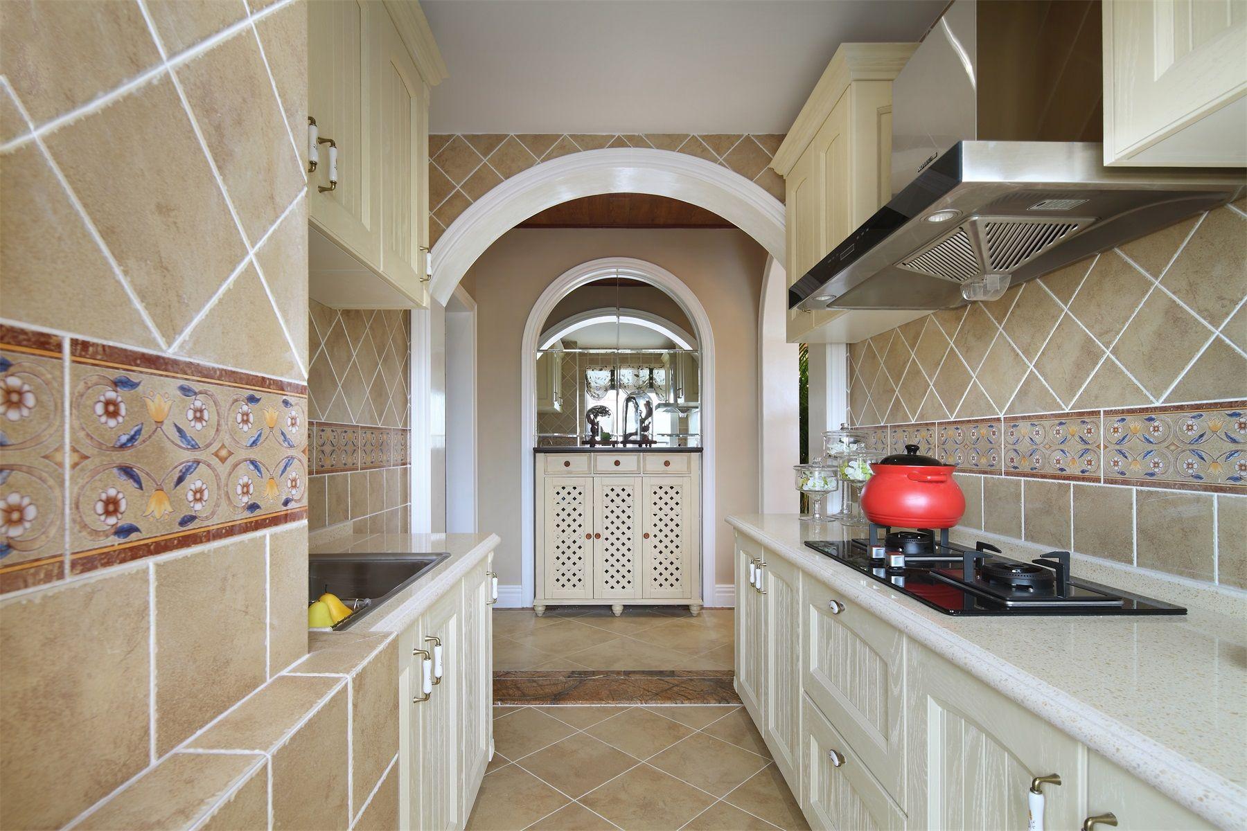 田园风格两居室厨房装修效果图