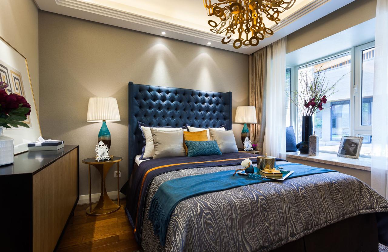 混搭风格样板房卧室装修效果图