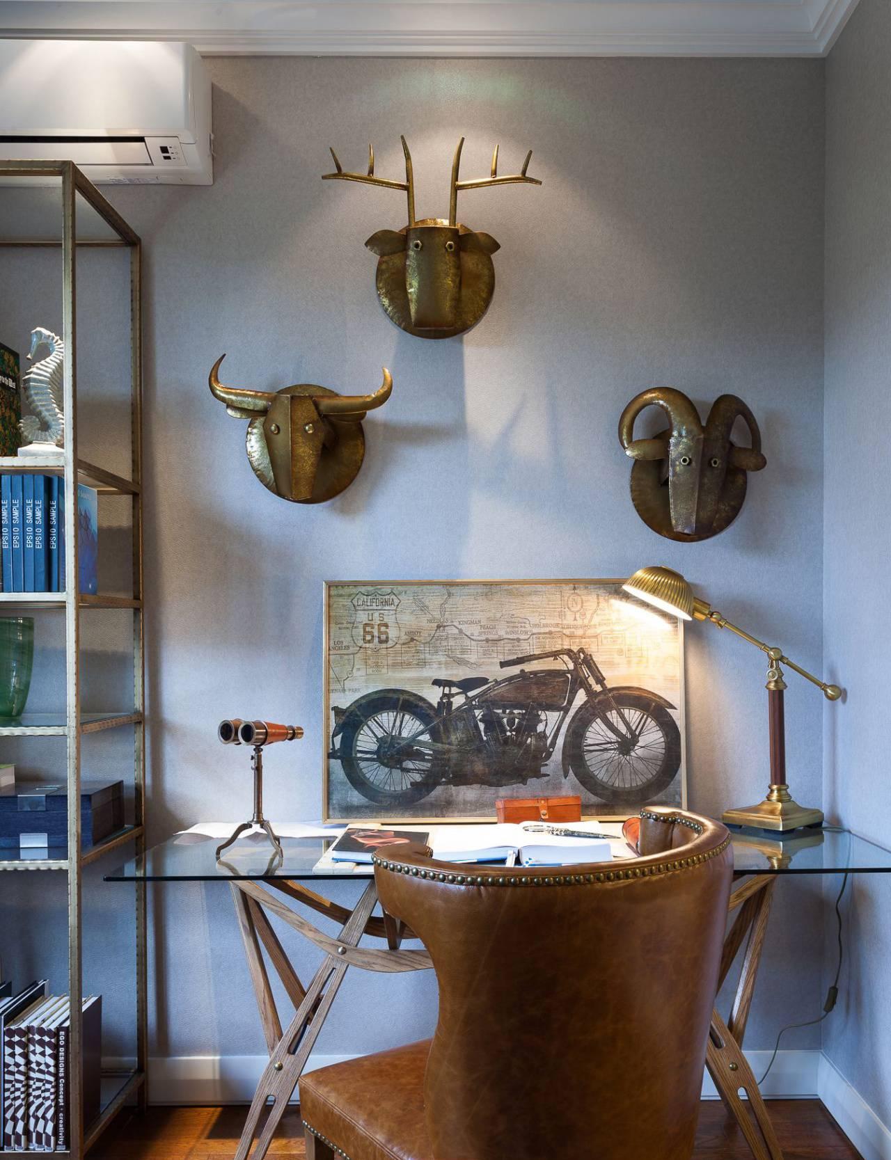 混搭风格样板房装修书桌设计图