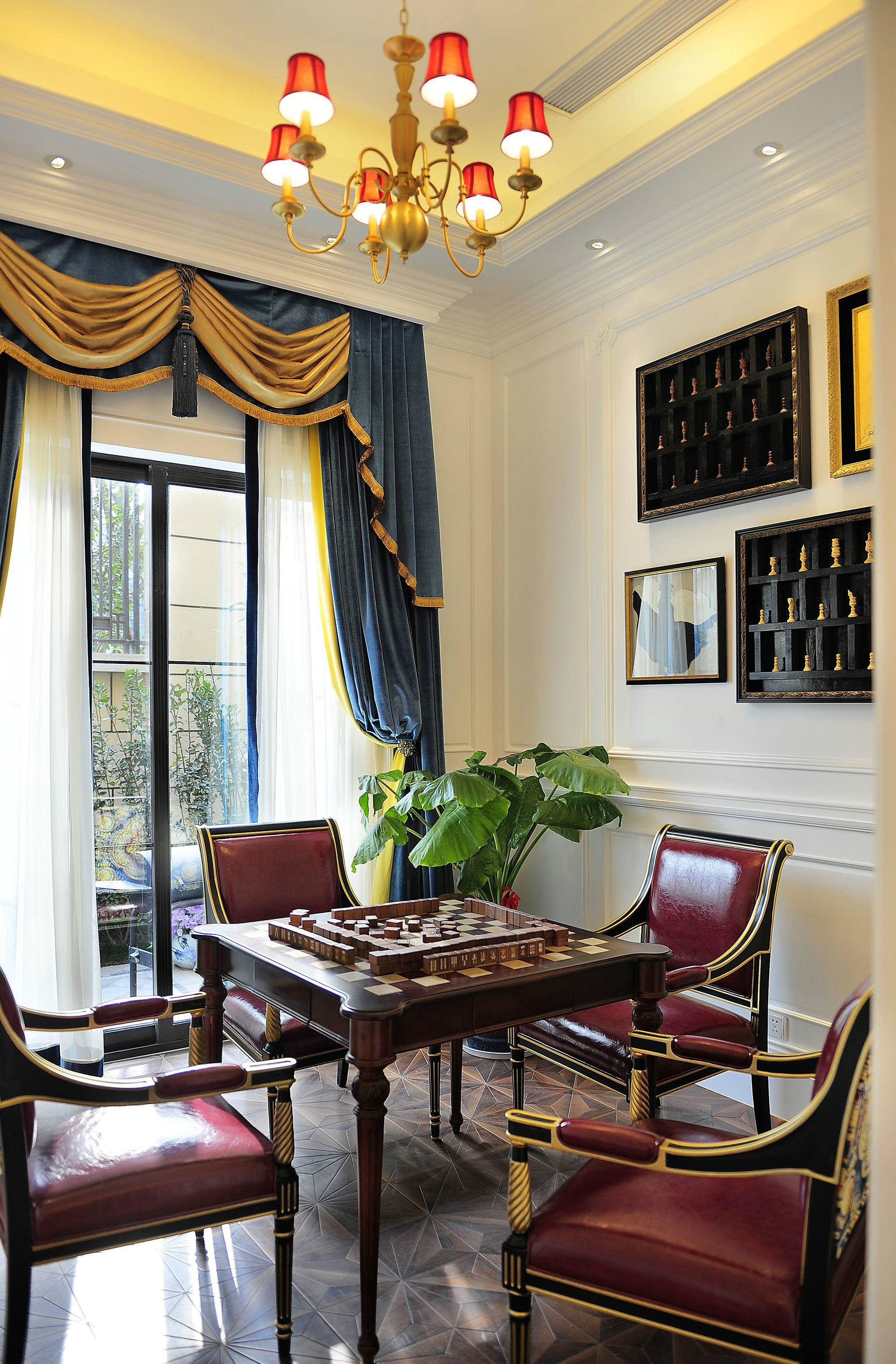 奢华法式风格别墅娱乐室装修效果图