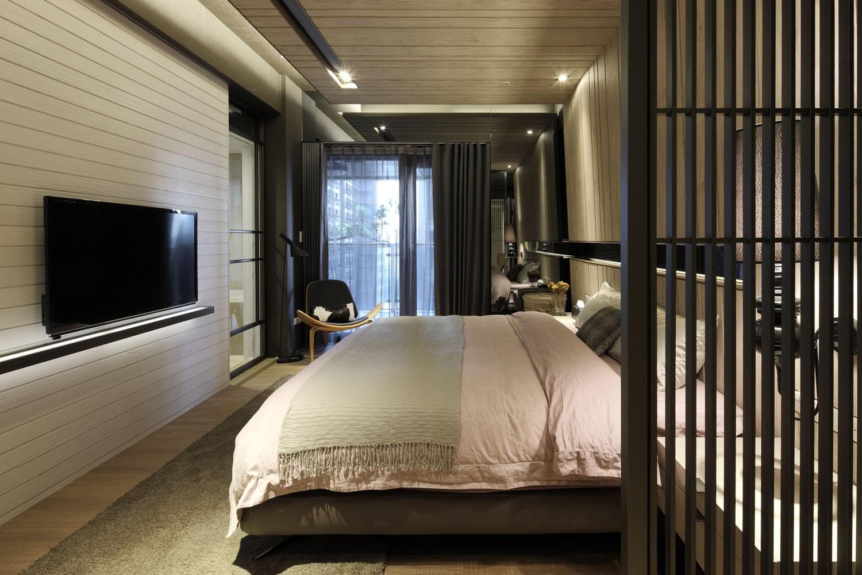 150㎡现代混搭三居卧室装修效果图