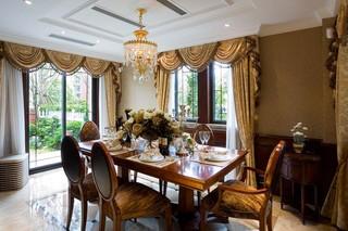 英伦风格别墅餐厅装修效果图
