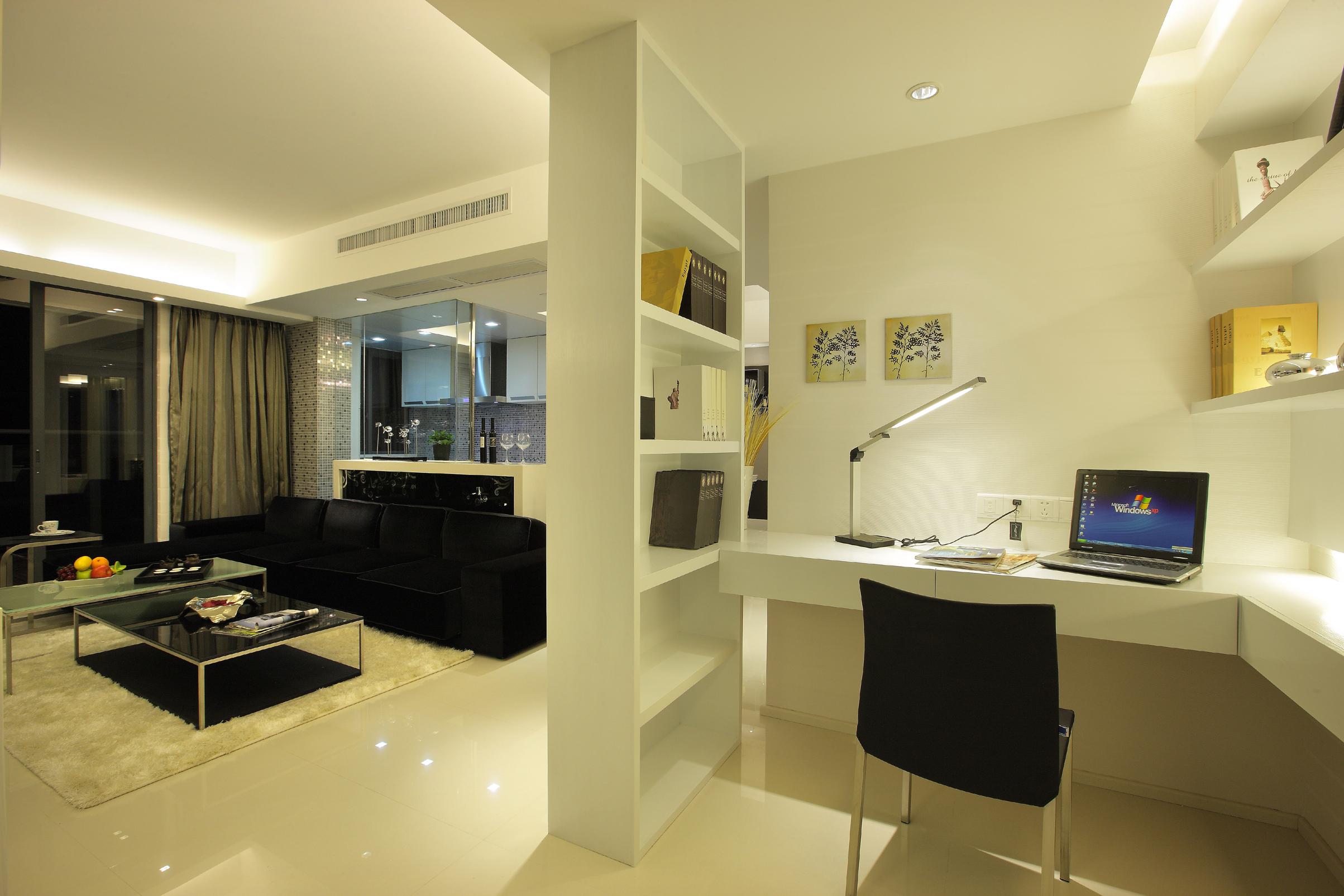 现代简约两居室书房装修效果图