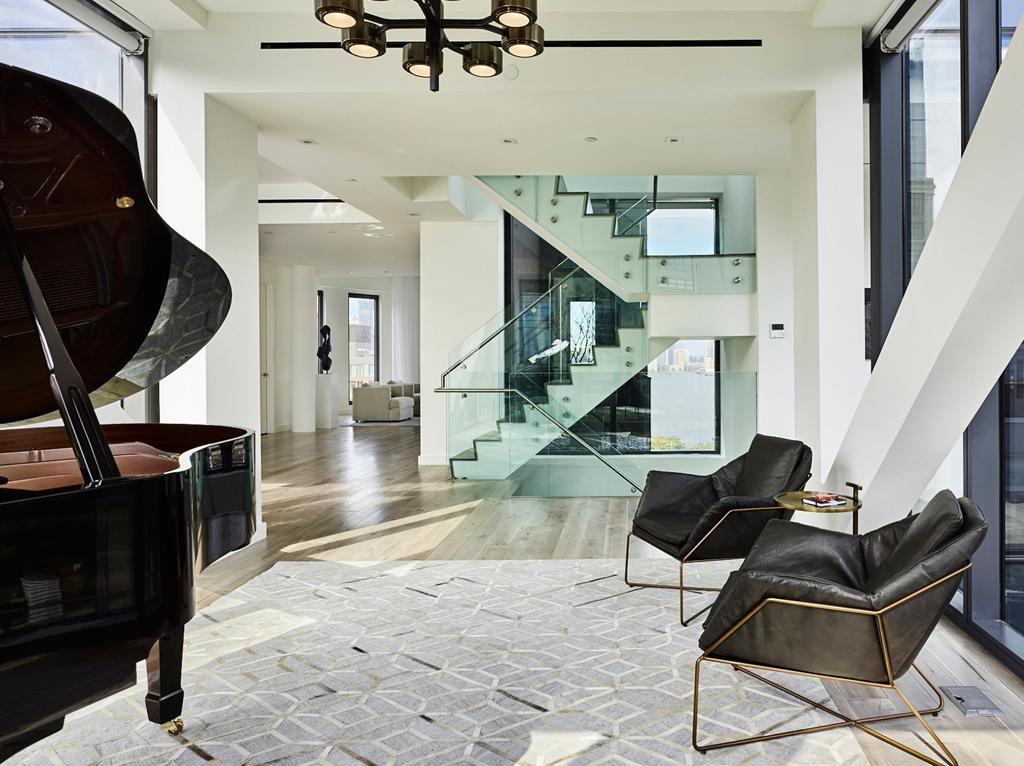 大户型现代公寓休闲区装修效果图
