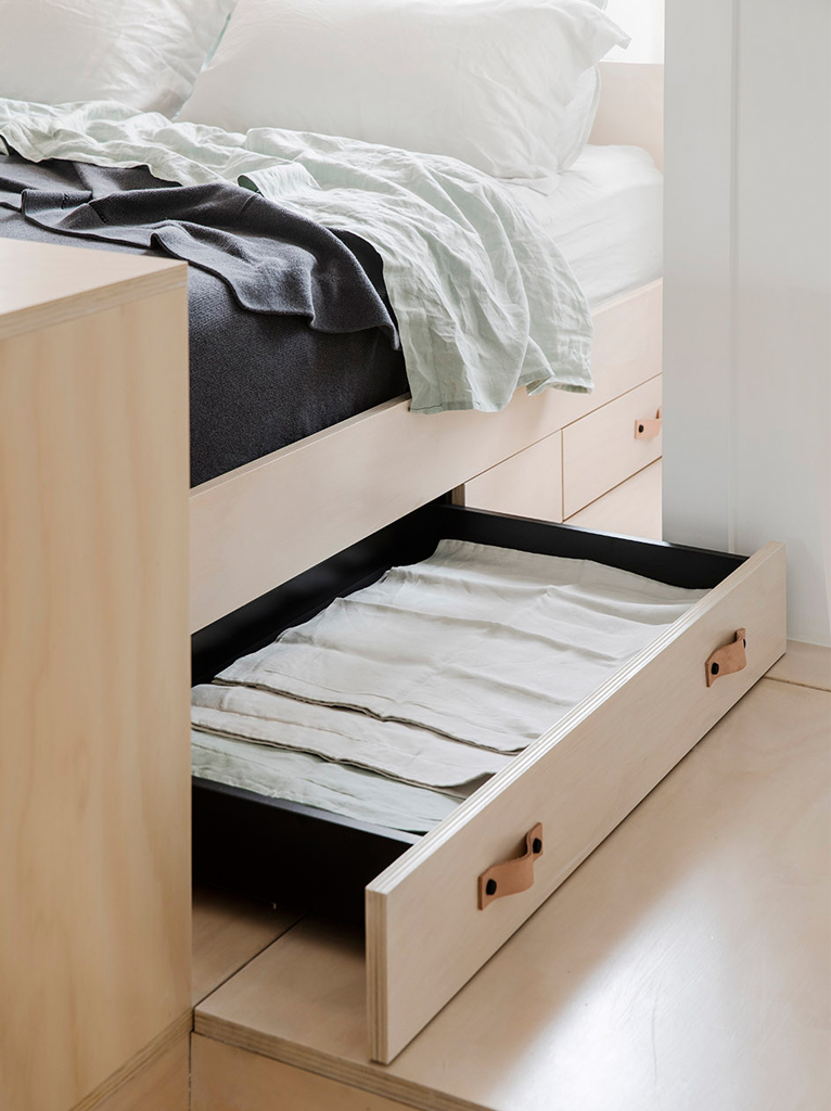 超小户型公寓装修床底收纳设计