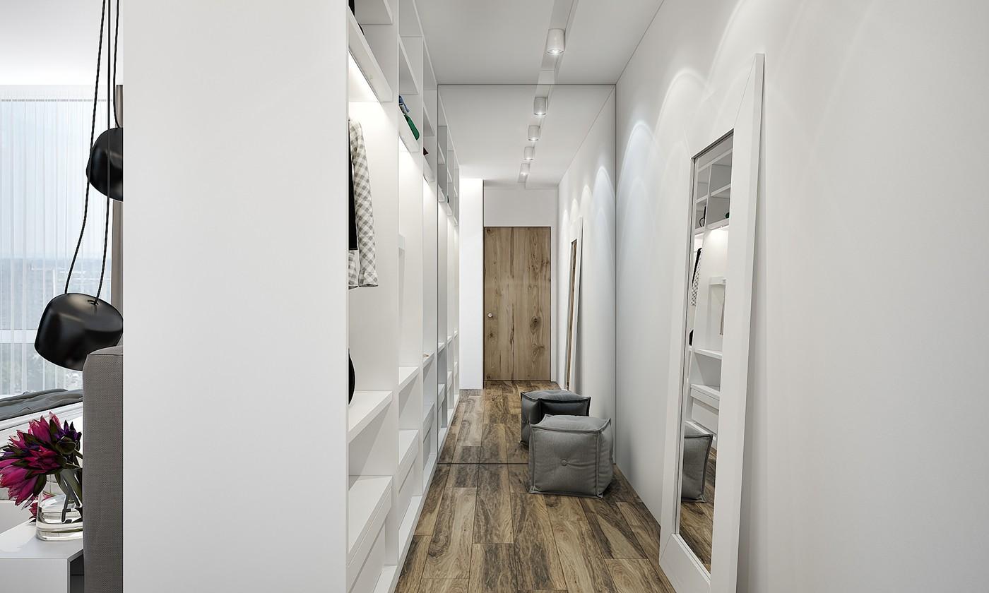小户型公寓衣帽间装修设计效果图