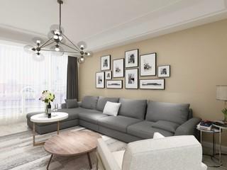 简约风格沙发背景墙装修设计效果图