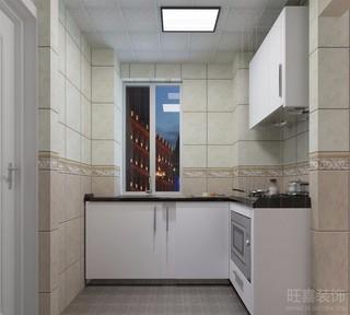 二居室现代简约厨房装修效果图