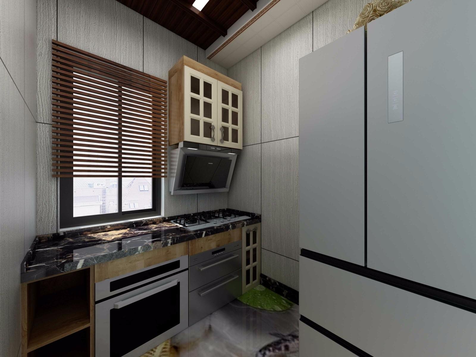 82平混搭风格厨房装修效果图