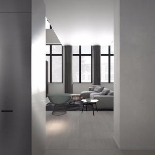 灰色極簡風格客廳裝修效果圖
