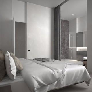 灰色极简风格卧室装修效果图