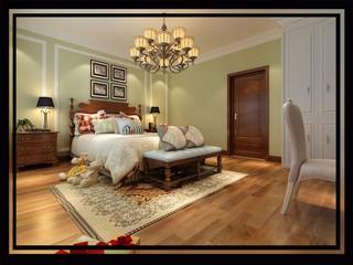 大户型豪华美式风格卧室装修效果图