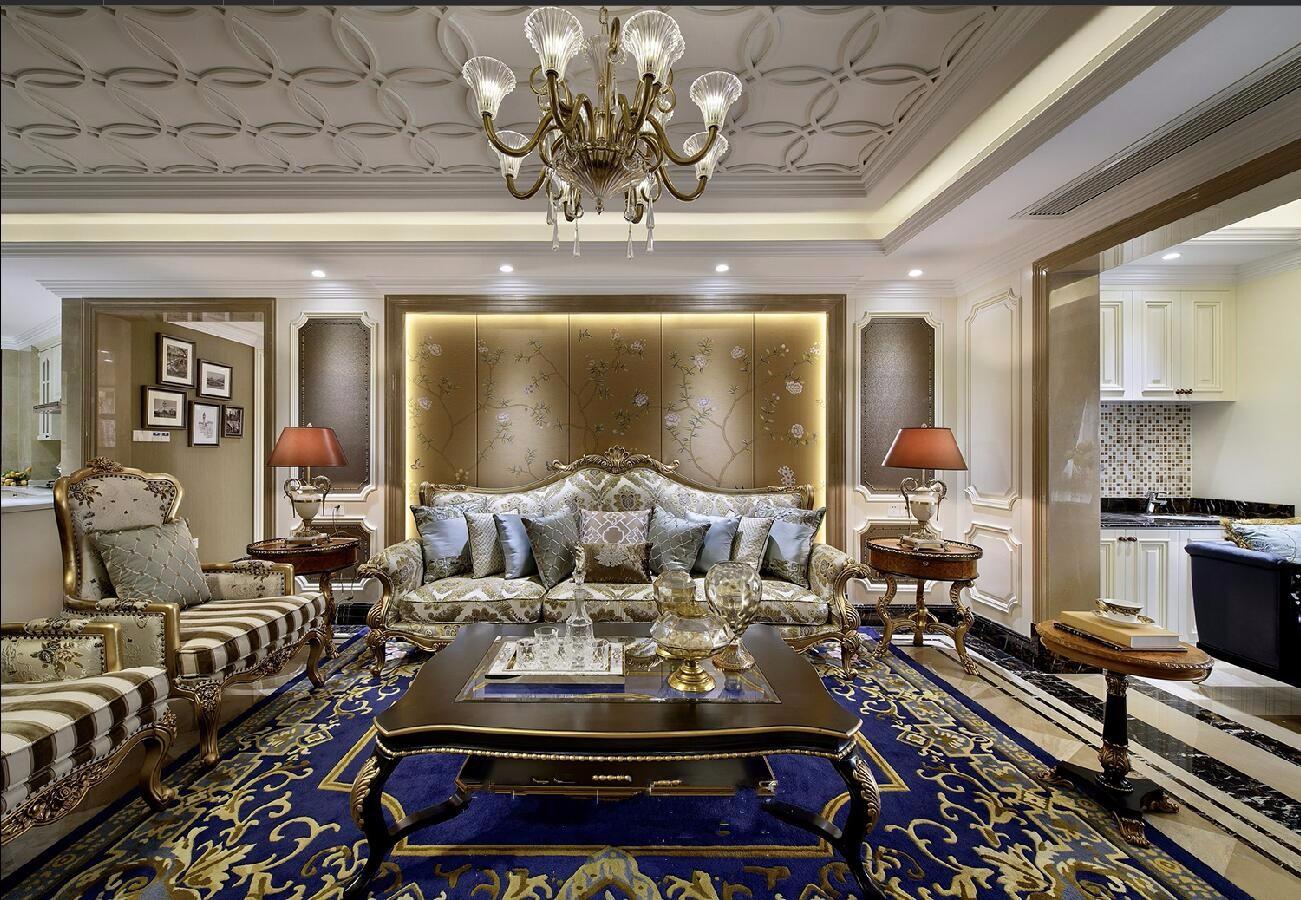 奢华欧式风格客厅装修设计效果图