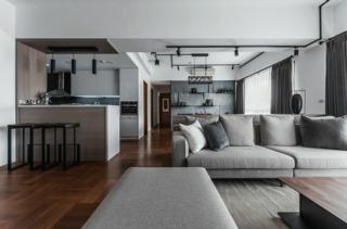 灰色调现代台式风装修沙发布置图