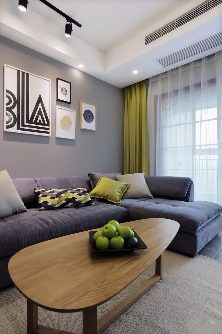 89平北欧风格装修沙发布置图