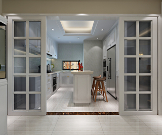 现代简欧风格厨房装修效果图