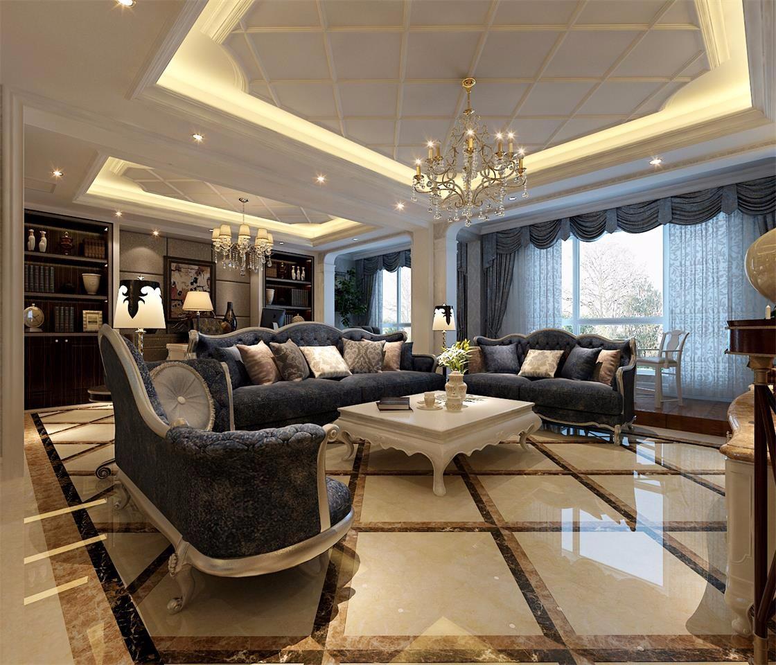 奢华古典欧式风格客厅装修效果图