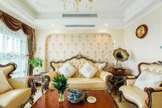 三居室欧式风格沙发背景墙装修效果图