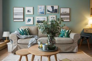 小户型北欧风格沙发背景墙装修效果图