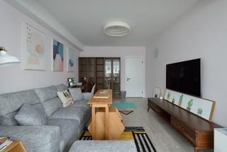 96平米北欧风格客厅装修效果图